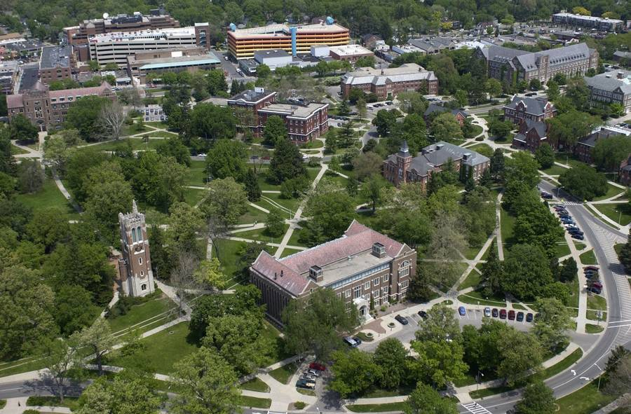 east lansing aerial photo